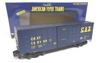 LIONEL 6-47967 AMERICAN FLYER S GAUGE CSX WAFFLE SIDE BOXCAR 136156 2 rail NEW