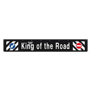 Bavette Noir PVC Remorque Poids Lourd King Of The Road 240x35 cm + Kit Fixation