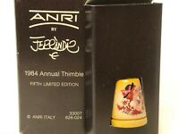 Anri By Ferrandiz Hand Painted Wood 1984 Annual Thimble Fifth Limited Edition