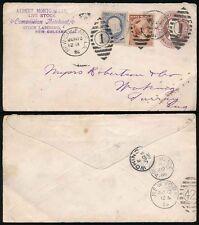 USA 1886 Cancelleria 2c + 3c al villaggio Woking Surrey... NEW ORLEANS Bestiame