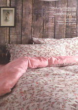 Set Copripiumino Lenzuola Matrimoniale Garden Club Easy Chic Rosa Beige Zucchi