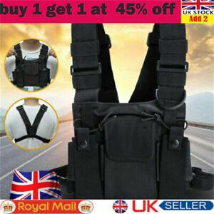 Vest Nylon Chest Rig Bag Hip Hop Functional Tactical Harness Chest Waist Pack LI
