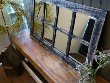 RECLAIMED BARN WOOD WINDOW 8 PANE HOMESTEADER MIRROR COUNTRY RUSTIC DECOR