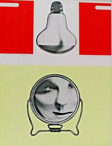 Peter KLASEN 1935 signiert Auflage 10 Eigenabzug - Glühbirne und Frau im Spiegel