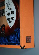 Orange Tolex Guitar Display Case Cabinet
