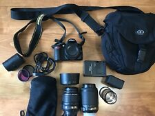 Nikon D3100 14.2MP DSLR STARTER BUNDLE w/ 2 lenses (18-55mm, 55-200mm) + EXTRAS!