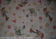 VINTAGE DISNEY TOY STORY WOODY & BUZZ LIGHTYEAR TWIN FLAT SHEET BEDDING STARS