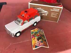 Tonka Rescue Jeep Wagoneer no. 1995 with original box