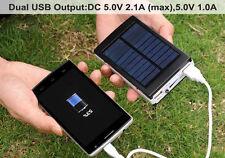 50000mAh Solar Power Bank 2 USB Portable Pack Charger Phone Battery Camping