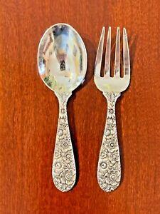 Antique Alvin Bridal Bouquet Sterling Silver Salad Fork 1935 Pattern