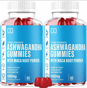2 Pack Ashwagandha Gummies w Organic Maca Root Powder Extract Supplements NEW