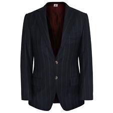 BORRELLI NAPOLI $2,200 pinstriped blue blazer wool cashmere sport jacket sz.SM