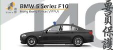 1:64 TINY DIE-CAST BMW 5 Series F10 VIPPU Hong Kong Police Traffic New in Stock