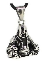 budawi® - Anhänger Happy Buddha (Budai) Figur, Lucky Buddha Symbol des Reichtums