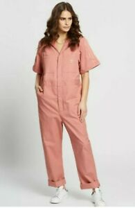 Adidas Originals Women's Ash Pink Jumpsuit/Boilersuit (Size UK12) Brand New