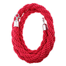 Queue Barrier Rope Twisted Barrier Crowd Control Queue Rope 2m Red