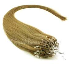 25 Micro Loop Ring Beads I Tip Indian Remy Human Hair Extensions Light Ash Brown