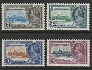British Honduras 1935 Silver Jubilee set SG 143-146 Mint.