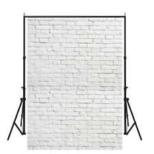 5x7ft Vintage White Brick Wall Photography Backdrops Art Photo Props Home Decor