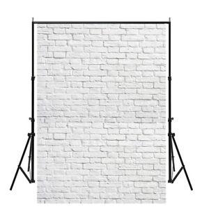 5x7ft Vintage White Brick Wall Photography Backdrops Art Photo Props Home Decor