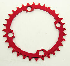 e*thirteen Guidering DH Chainring 104bcd X 32t, Red