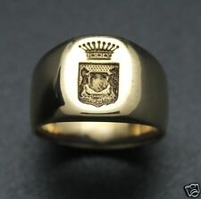 Bague Chevalière couronnes [chevaliere  RING - ANNEAU] Homme en VERMEIL **