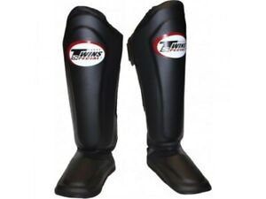 Twins Special SGL-10 Size S Black Shin Pads Guards Leather Express Delivery