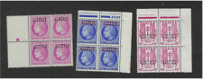 Algeria stamp set of 3 blocks of 4 stamps new n ** APCs without hinge line