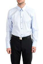 """Dolce & Gabbana """"Gold"""" Men's Blue Long Sleeve Dress Shirt US 16.5 IT 42"""