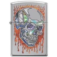 Zippo Lighter - Skull Fusion High Polish Chrome - 854089