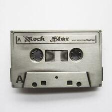 Cassette Tape Rock Star Old School Music Metal Fashion Belt Buckle