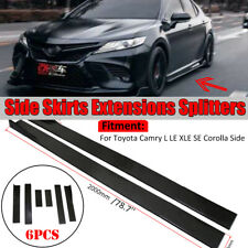 For Toyota Camry L LE XLE SE Corolla Side Skirts Extensions Lip Splitter 78.7''