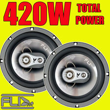 FLI 420W TOTAL 3-WAY 6.5 INCH 16cm CAR VAN DOOR/SHELF COAXIAL SPEAKERS + GRILLS