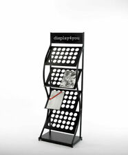 Double A4 Brochure Literature Display Stand Magazine Rack for Reception Showroom