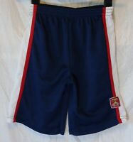 Boys Disney Cars Blue Red White Panelled Textured Long Board Shorts Age 6 Years