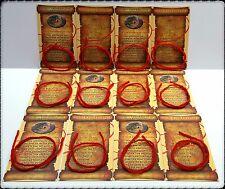 12 Kabbalah Red String Bracelet Evil Eye Protection Wool + 12 Prayer Cards LOT