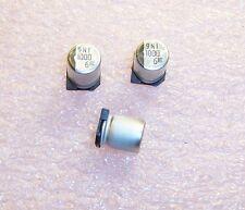QTY (20) 1000uf 6.3V 105' LOW IMPEDANCE SMD ELECTROLYTIC NACZ102M6.3V8X10.5