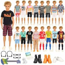 Clothes and Accessories For Ken Dolls-12 Clothes Outfits + 3 PCS Shoes Barbie