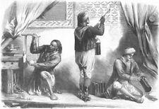 FRANCE. Paris Expo. Arab Workmen, Tunisian section, antique print, 1867