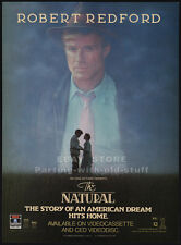 THE NATURAL__Original 1984 video Print AD / advert movie promo__ROBERT REDFORD
