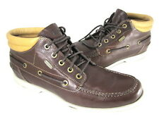 FOSSIL MEN'S CARSON MID BOAT SHOE DARK BROWN LEATHER US SIZE 10 MEDIUM (D, M)