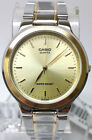 Casio MTP-1131G-9A Mens Gold Dial Analog Watch Stainless Steel Band Dress New