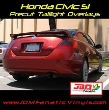 Civic tail light Overlays Reverse Turn Signal SMOKE TINT Vinyl K20 FG2 Film JDM