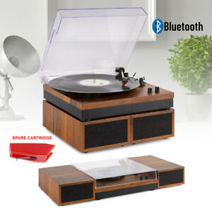 Record Player, Stereo Amplifier Speaker System, Bluetooth with Spare Cartridge