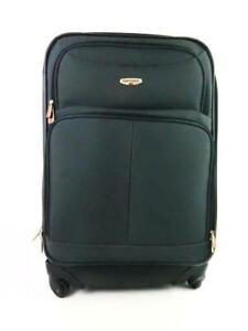Concourse Soft Side Carry On Suitcase With Wheels Collapsible Handle Black