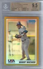 2010 Manny Machado Bowman Chrome USA Gold Refractor RC- BGS 9.5 Gem Mint- #34/50