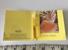 VINTAGE 80s collectable PRESENCE PARQUET PERFUME SAMPLE CARD mini BOTTLE new