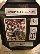 Pittsburg Penguins 2009 Team Photo With Stanley Cup unsigned Framed new
