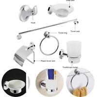 6 Piece Bathroom Toilet Accessory Set Kit Hardware Towel Bar Soap Dish Chrome