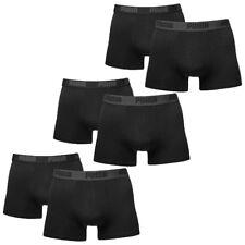 6 en Paquete Puma Bóxer shorts/Negro/tamaño S/Hombre Ropa interior Bragas